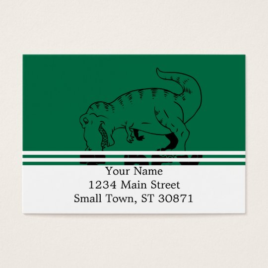 t rex hates push-ups business card