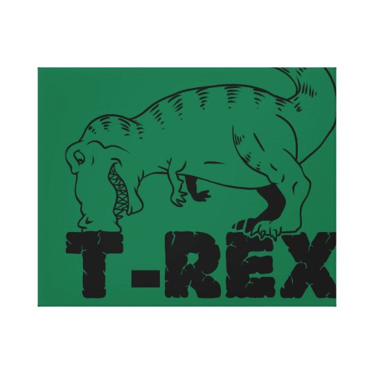 t rex hates push-ups canvas print