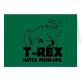 t rex hates push-ups card
