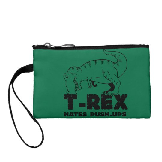 t rex hates push-ups coin wallets