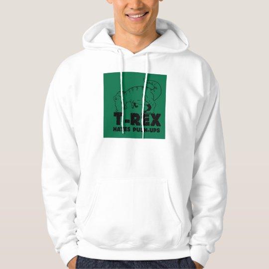 t rex hates push-ups hoodie