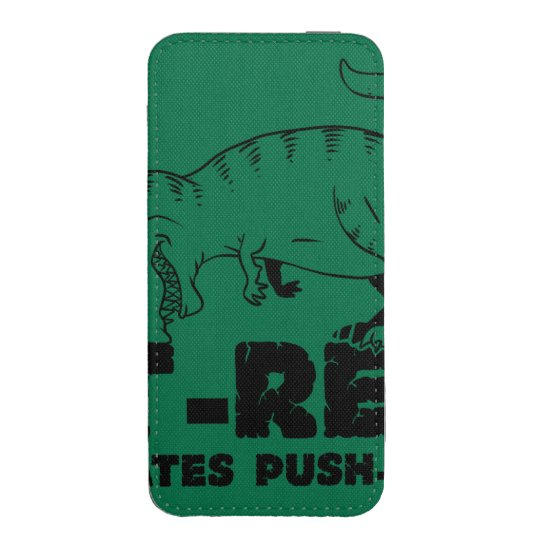 t rex hates push-ups iPhone pouch
