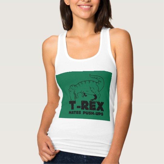 t rex hates push-ups tank top