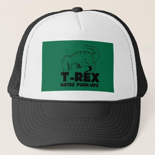t rex hates push-ups trucker hat