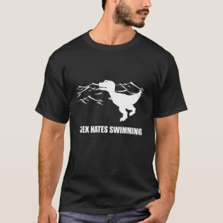 T-Rex Hates Swimming Dark T-Shirt