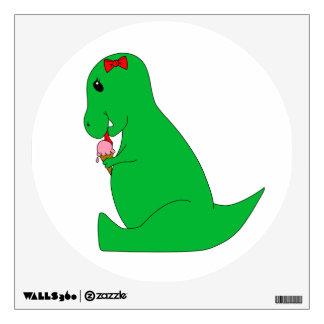 T-Rex Ice Cream Cone Wall Sticker