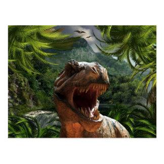 T-Rex In Jungle Postcard Dinosaur