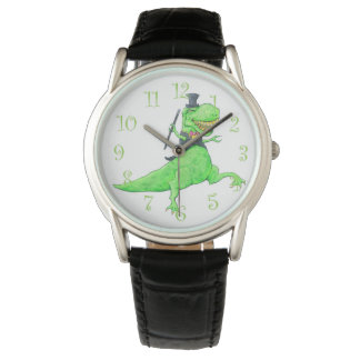 T-Rex in Top Hat and Tails Wristwatch