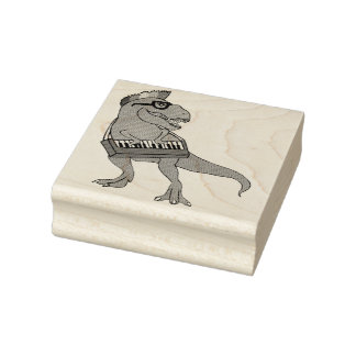 T-Rex Keyboard Rubber Stamp