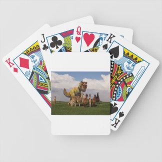 T Rex Llamas Bicycle Playing Cards