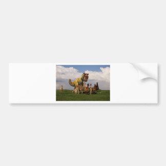T Rex Llamas Bumper Sticker