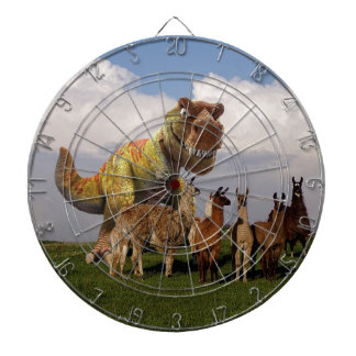 T Rex Llamas Dartboard
