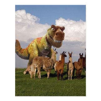 T Rex Llamas Personalized Letterhead