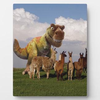 T Rex Llamas Plaque