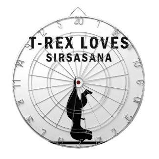 t-rex loves sirsasaniana dartboard