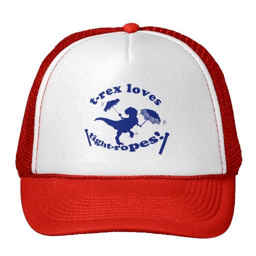 T-Rex Loves Tightropes! Mesh Hat