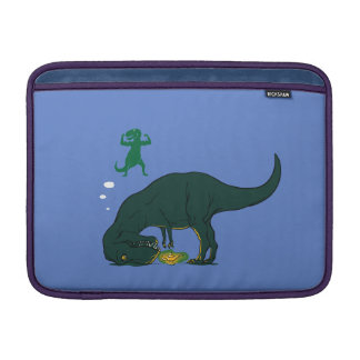 T Rex making a wish Sleeve For MacBook Air