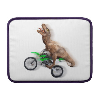 T rex motorcycle - t rex ride - Flying t rex MacBook Sleeve