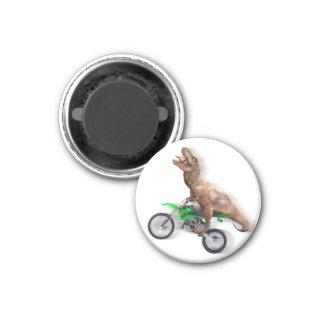 T rex motorcycle - t rex ride - Flying t rex Magnet