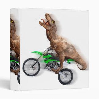 T rex motorcycle - t rex ride - Flying t rex Vinyl Binders