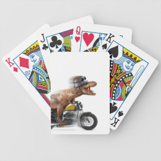 T rex motorcycle-tyrannosaurus-t rex - dinosaur bicycle playing cards