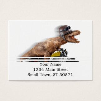 T rex motorcycle-tyrannosaurus-t rex - dinosaur business card