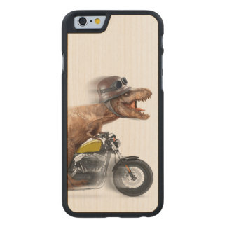 T rex motorcycle-tyrannosaurus-t rex - dinosaur carved maple iPhone 6 case