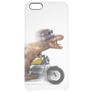 T rex motorcycle-tyrannosaurus-t rex - dinosaur clear iPhone 6 plus case