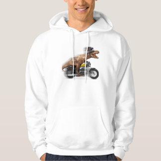 T rex motorcycle-tyrannosaurus-t rex - dinosaur hoodie