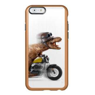 T rex motorcycle-tyrannosaurus-t rex - dinosaur incipio feather® shine iPhone 6 case