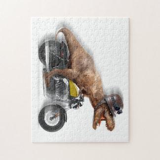 T rex motorcycle-tyrannosaurus-t rex - dinosaur jigsaw puzzle