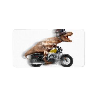 T rex motorcycle-tyrannosaurus-t rex - dinosaur label