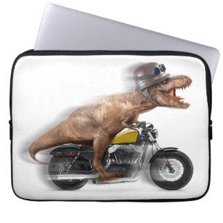 T rex motorcycle-tyrannosaurus-t rex - dinosaur laptop sleeve