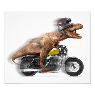 T rex motorcycle-tyrannosaurus-t rex - dinosaur photo print