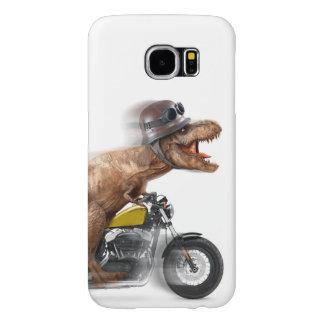 T rex motorcycle-tyrannosaurus-t rex - dinosaur samsung galaxy s6 cases