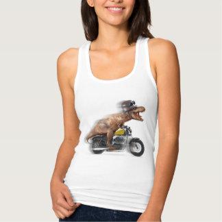 T rex motorcycle-tyrannosaurus-t rex - dinosaur tank top