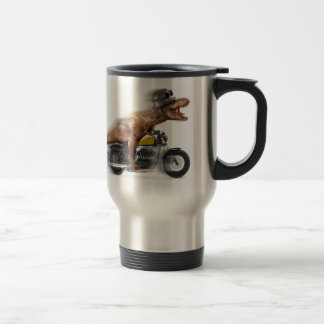 T rex motorcycle-tyrannosaurus-t rex - dinosaur travel mug