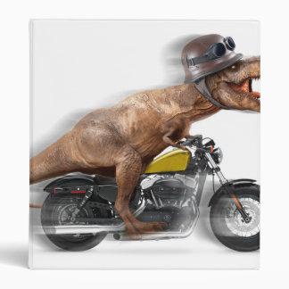 T rex motorcycle-tyrannosaurus-t rex - dinosaur vinyl binders