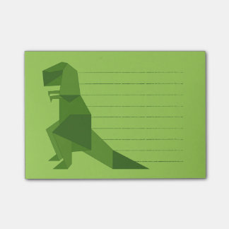 T-Rex origami Post-it Notes