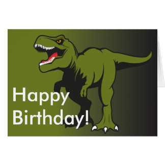 T-Rex Personalized items Card