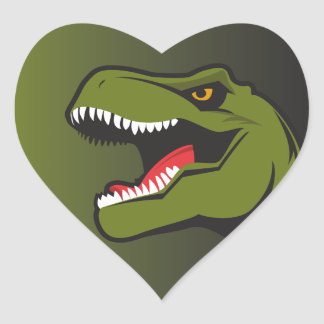 T-Rex Personalized items Heart Sticker