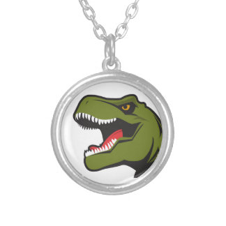 T-Rex Personalized items Silver Plated Necklace