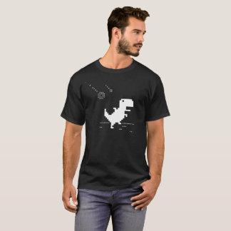 T-Rex Pixel Art T-Shirt Geek Offline Meteorite Ner