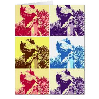 T-Rex Pop Art Card