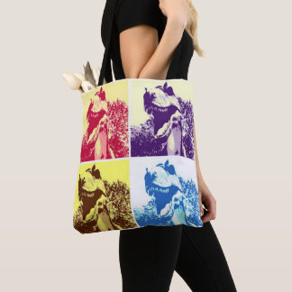 T-Rex Pop Art Tote Bag