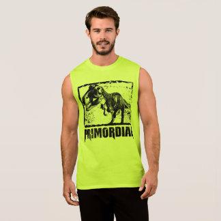 T-REX_PRIMORDIAL_bw_sleeveless Sleeveless Shirt