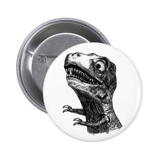 T-Rex Rage Meme - Pinback Button