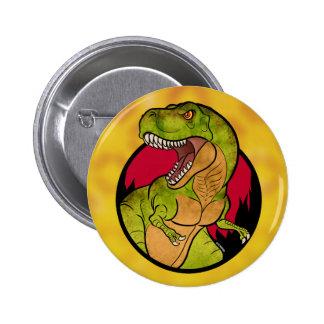 T-Rex red background 2 Inch Round Button