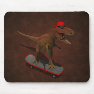 T Rex Skateboarding Mouse Pad