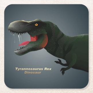 T-Rex Square Paper Coaster